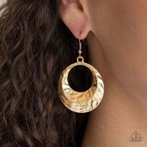 Savory Shimmer - Gold Earrings
